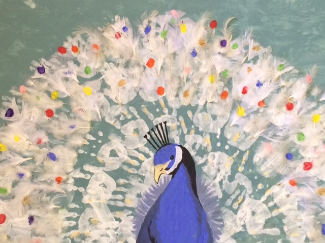 Peacock Painting by YEK pupils